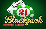 Играть во слот Single Deck Blackjack Professional Series
